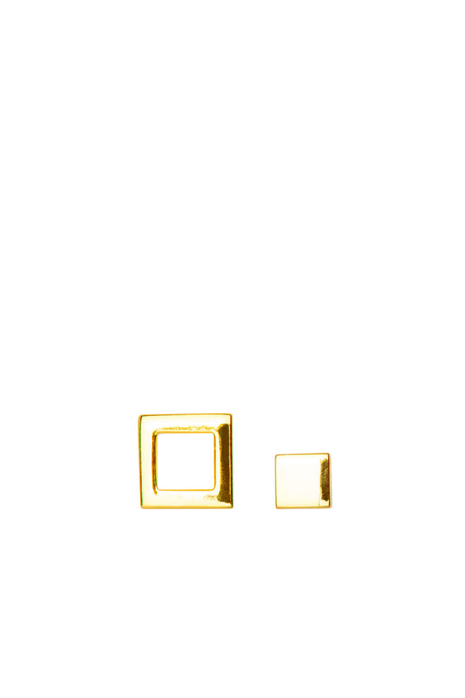 Family Ear Studs LULUE142, GOLD PLATED SHINY