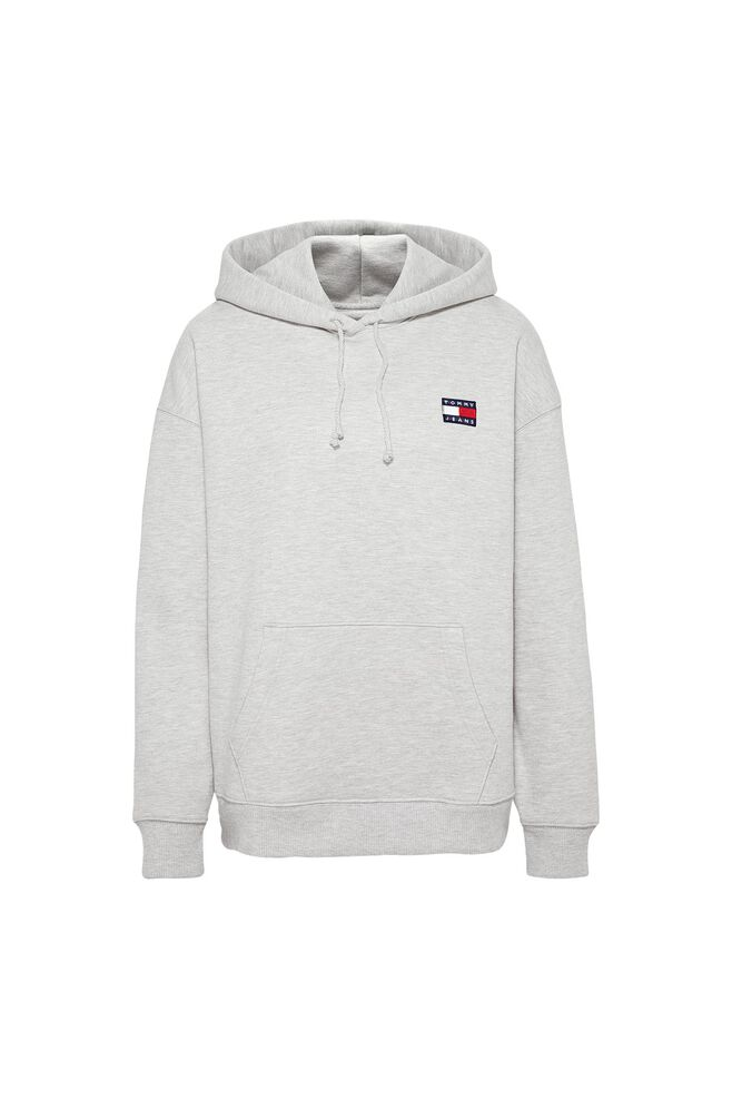 Tommy badge hoodie DW0DW06815, LT GREY HTR