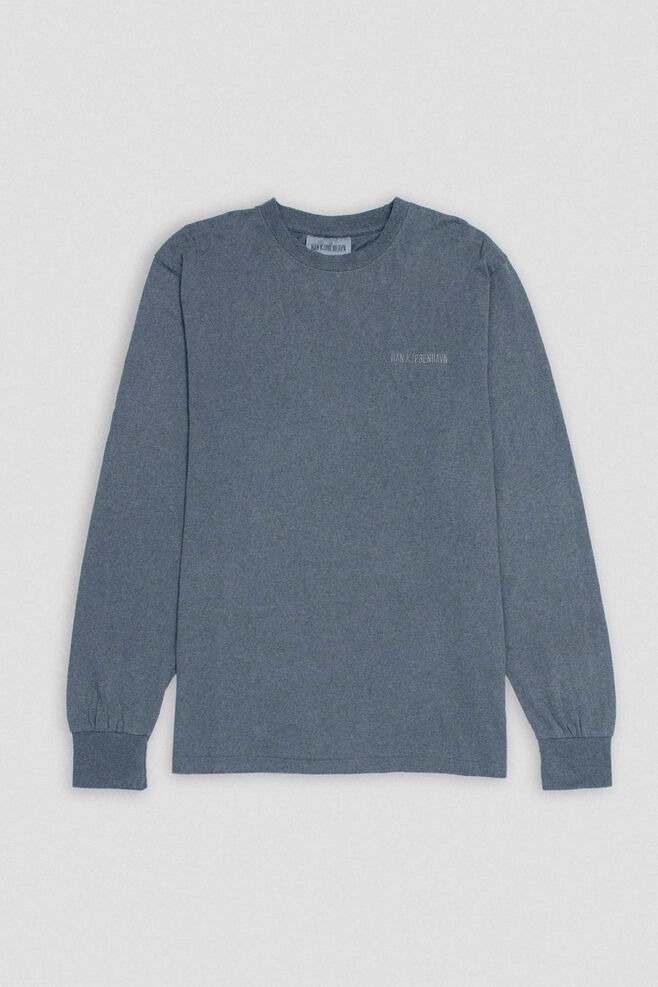 Casual long sleeve tee M-20003, DARK GREY LOGO