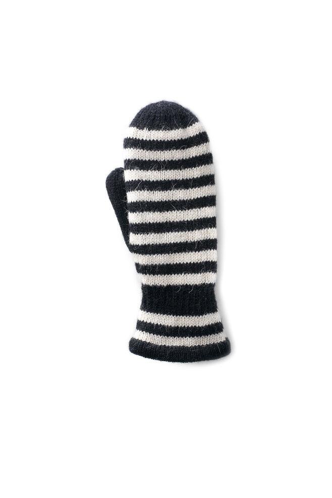 Striped Mitt Ladies 61161, BLACK/OFF WHITE