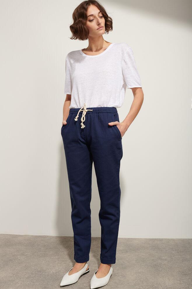 Woman elastic waist 00498WP, NAVY