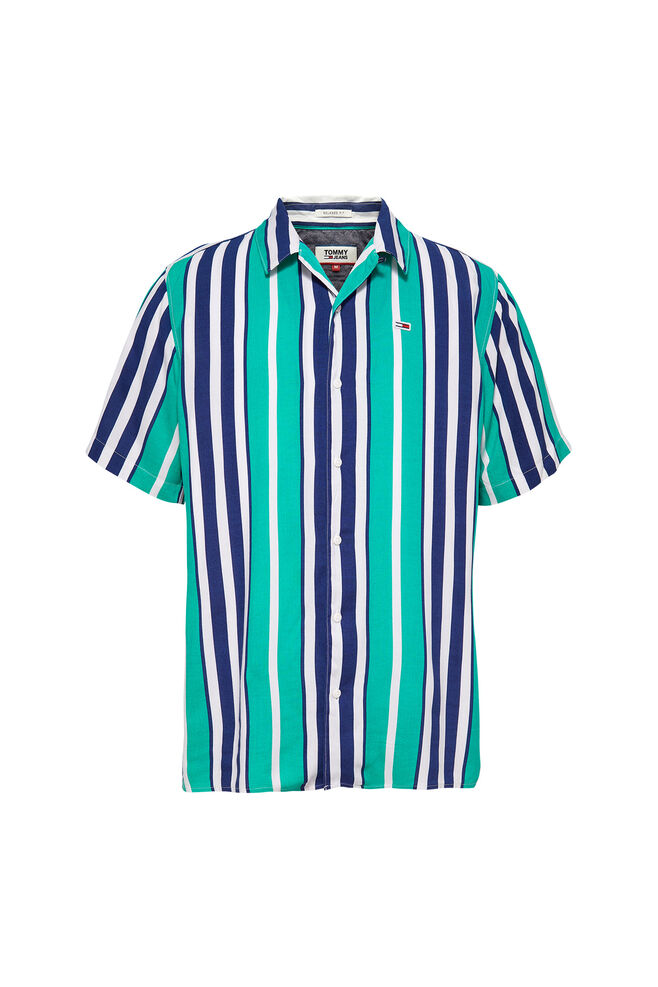 Stripe camp shirt DM0DM06009, DYNASTY GREEN/MULTI
