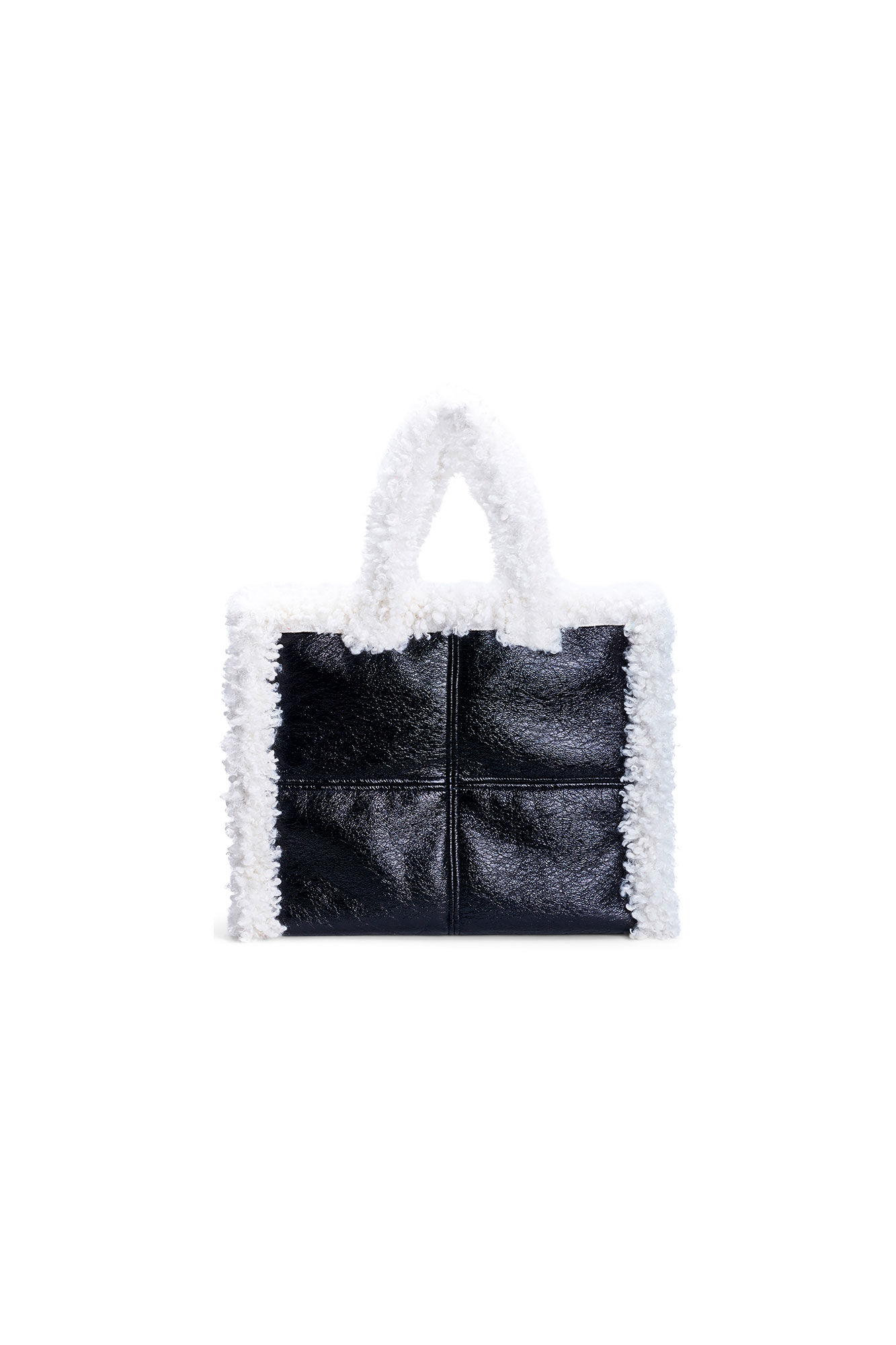Lola chearling bag 60769-9030, BLACK/OFF-WHITE