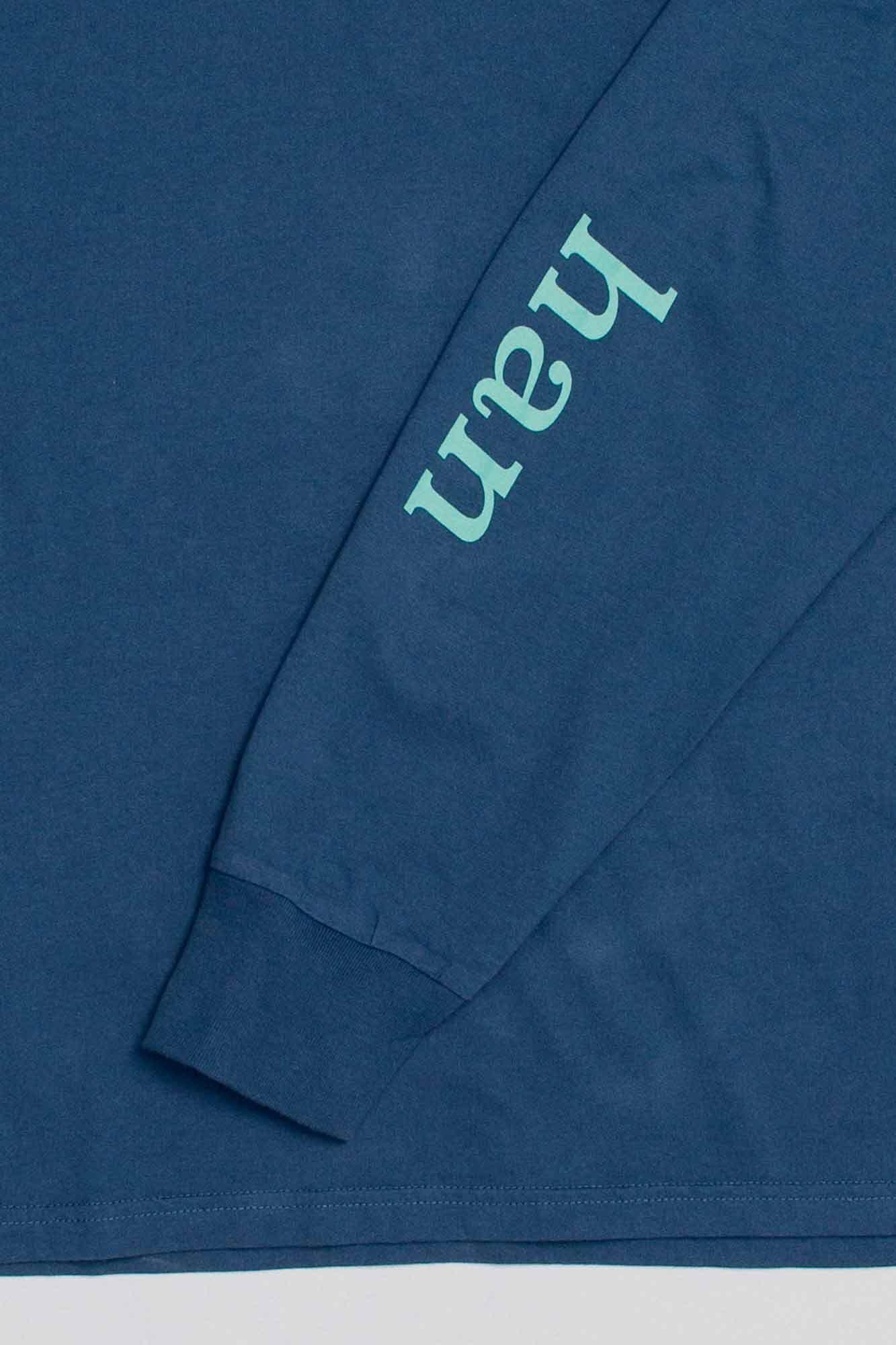 Boxy tee long sleeve M-110107, NAVY