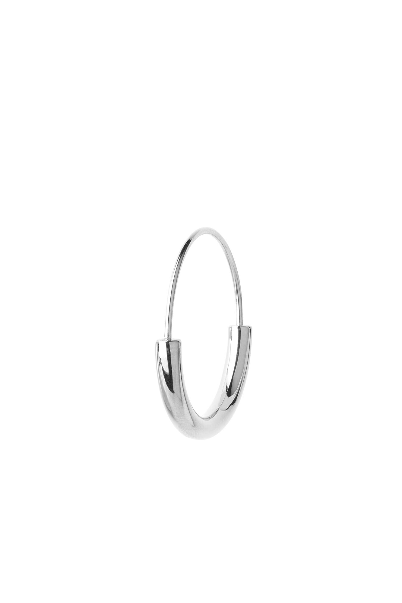 Serendipity hoop small, SILVER