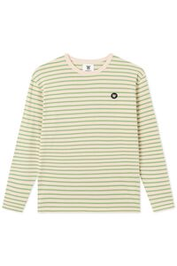 Mel long sleeve 10925402-2323, OFF-WHITE/GREEN STRIPES
