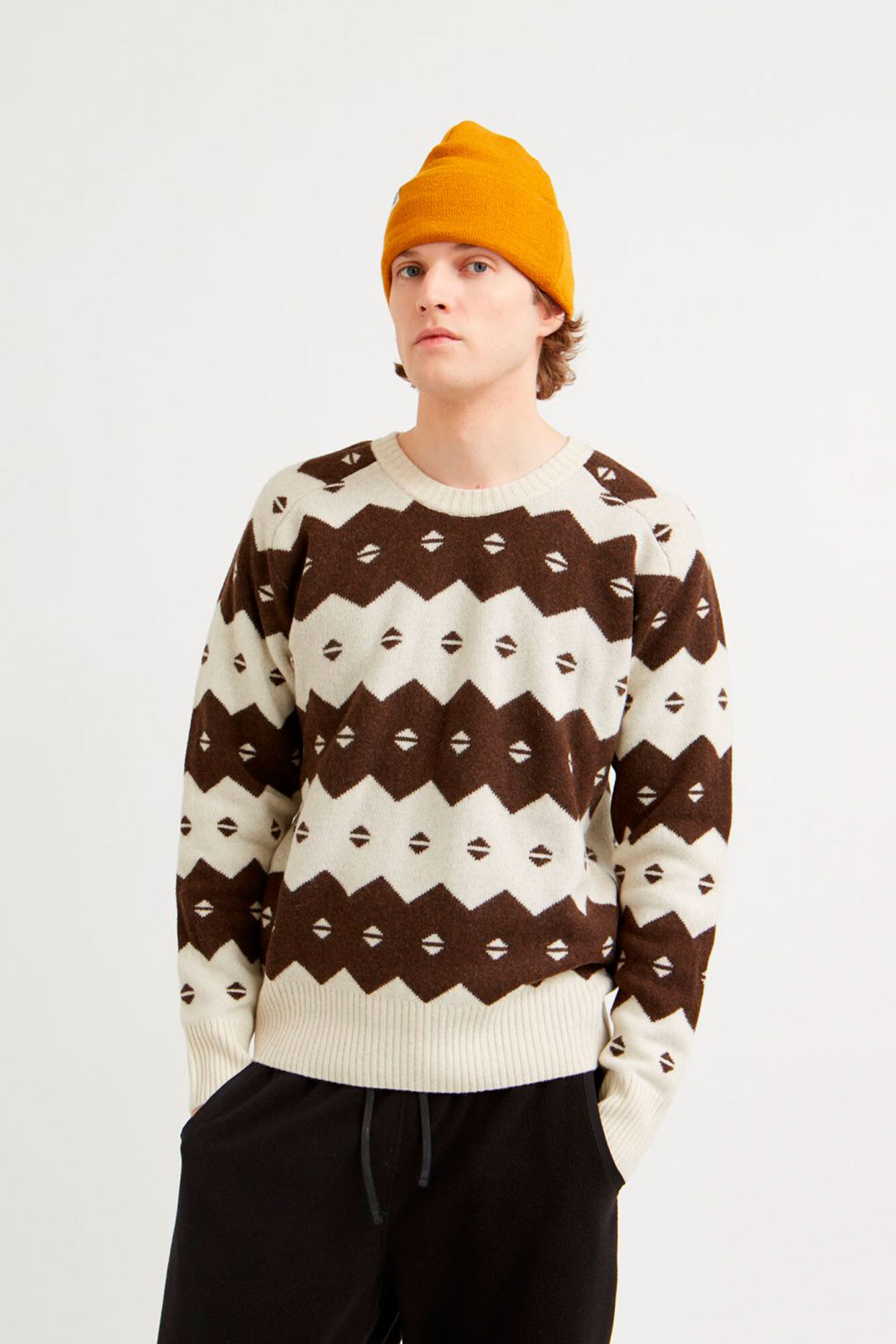 Kevin sweater 11935510-4137, OFF-WHITE JACQUARD