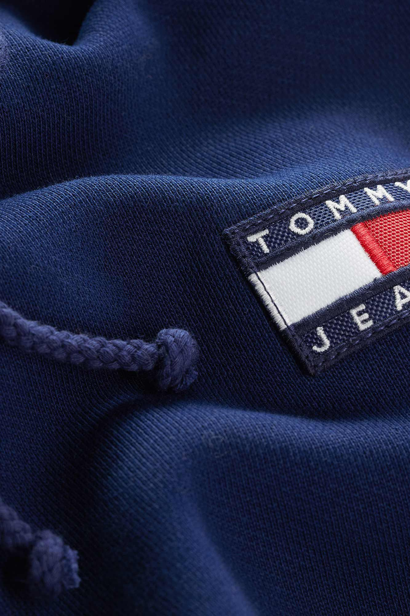 Tommy badge hoodie DW0DW06815, BLACK IRIS