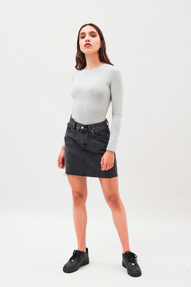 Mallory denim skirt, RETRO BLACK