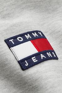 Tommy badge hoodie DM0DM06593, LT GREY HTR