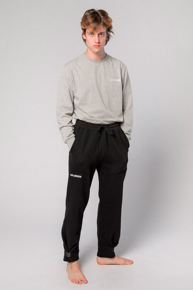 Sweat Pants M-50005, BLACK LOGO