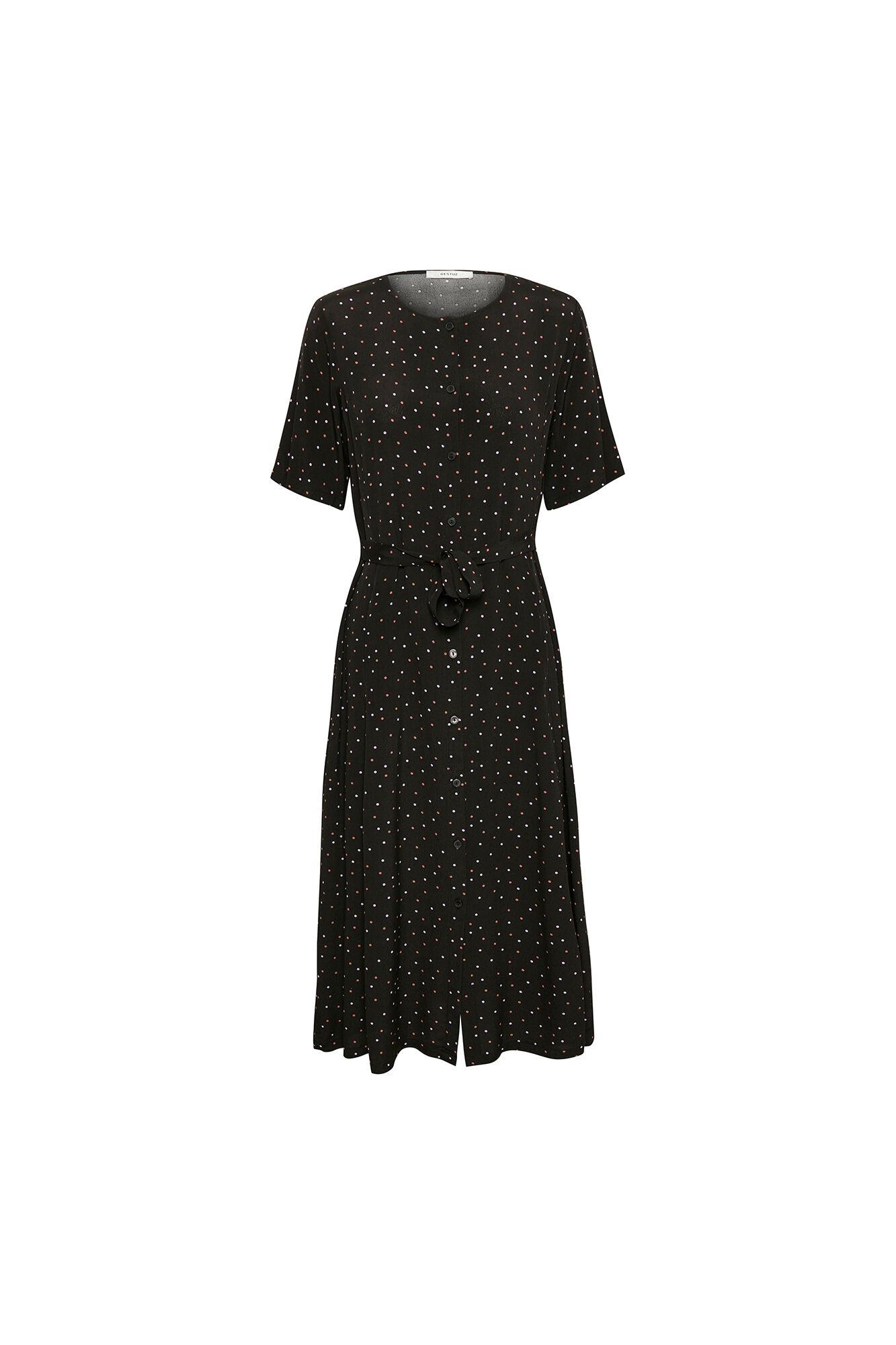 Harper Midi Dress 10902237, BLACK/PURPLE DOT