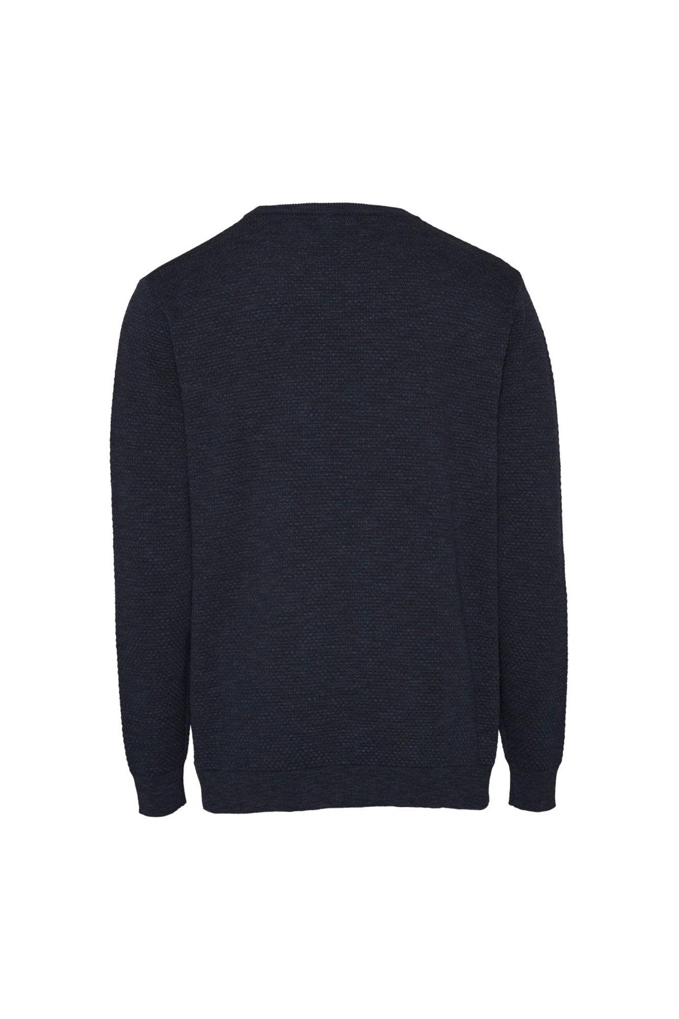 Bobble knit crew-neck 80563, TOTAL ECLIPSE