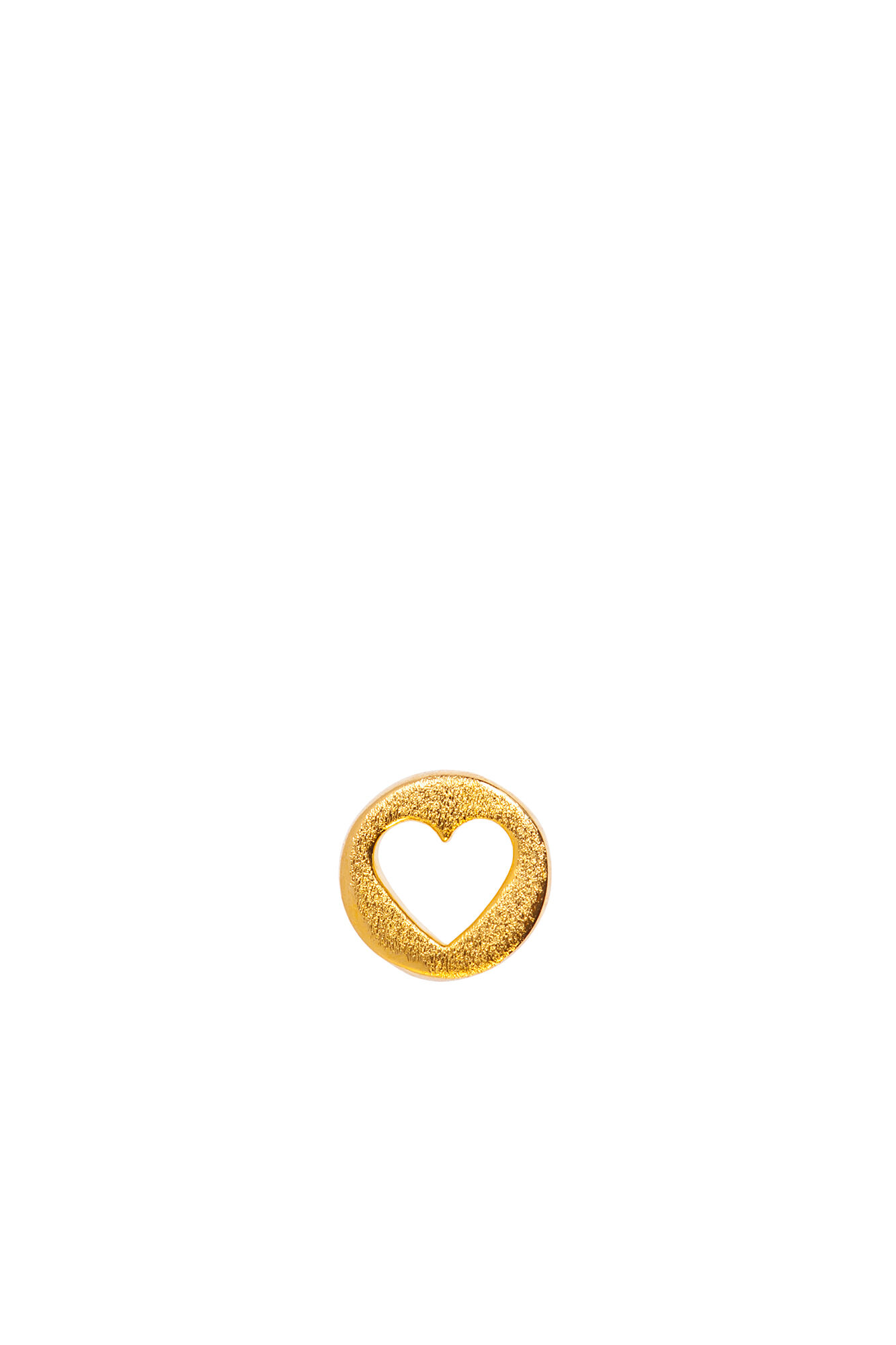 Cut Out Heart Ear LULUE199, GOLD PLATED