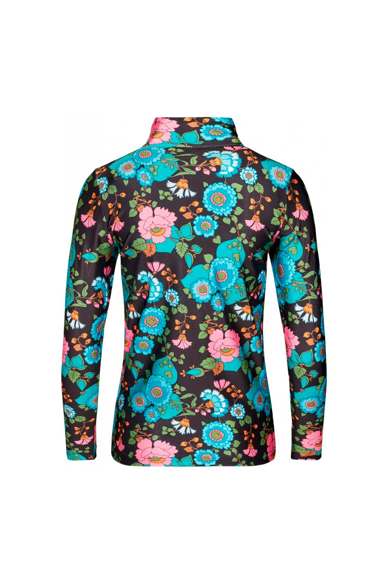 Tour de shirt FA900031-1, BLACK FLOWER