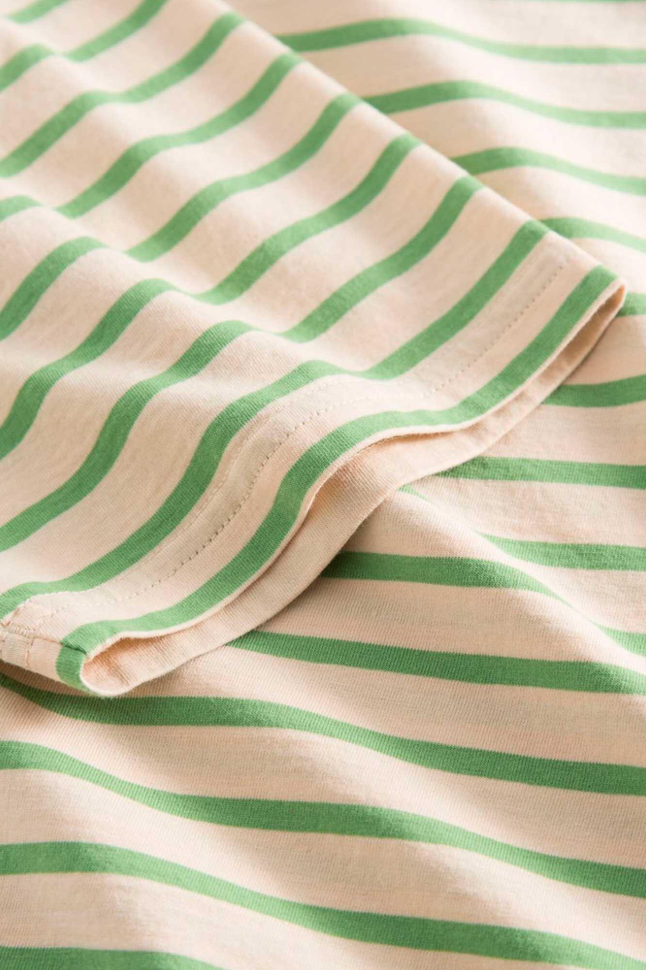 Uma t-shirt 10922500-2222, OFF-WHITE/GREEN STRIPES