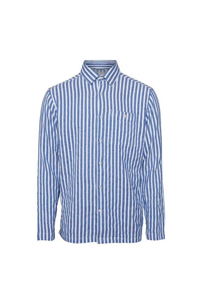 Short striped shirt 90745, OLYMPIA BLUE