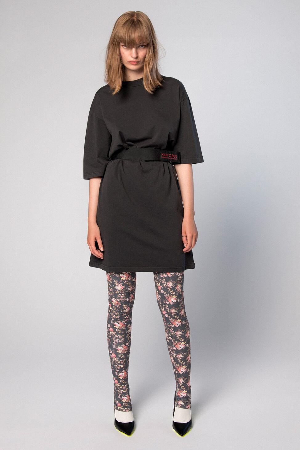 Tee dress F-110075, BLACK