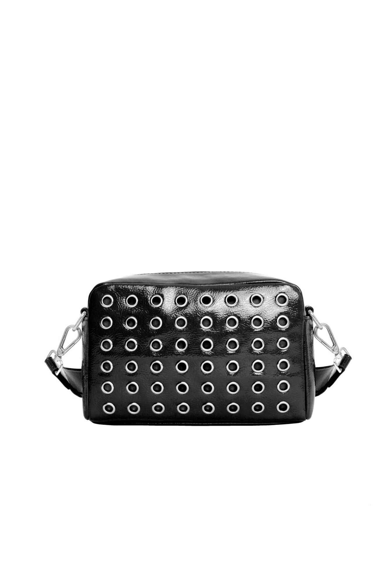 Luster Studded Crossbody H1208, BLACK