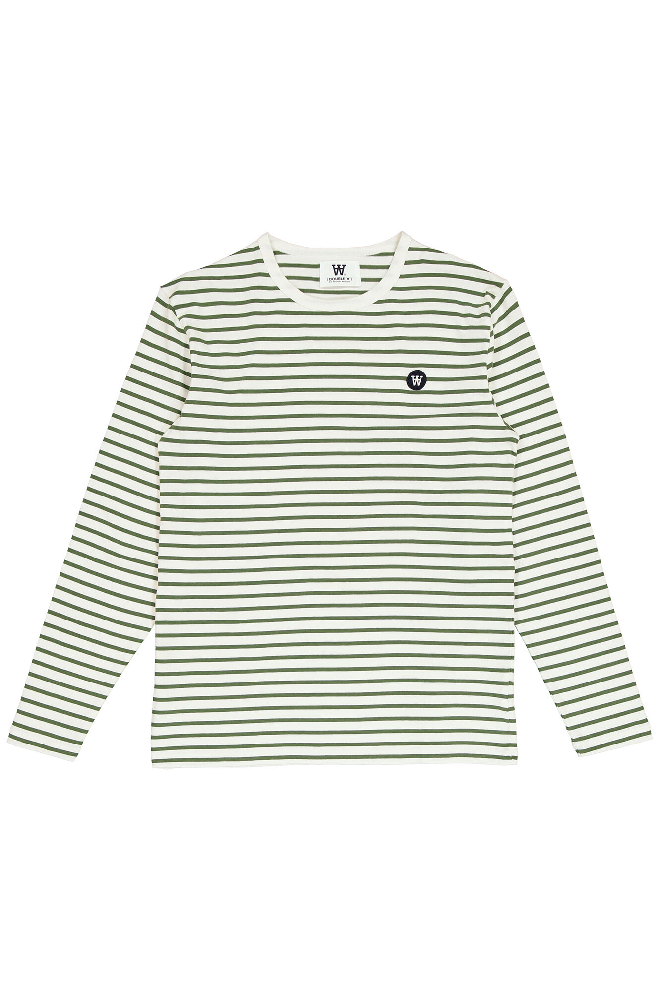 Mel long sleeve 10915404-2323, OFF-WHITE/GREEN STRIPES