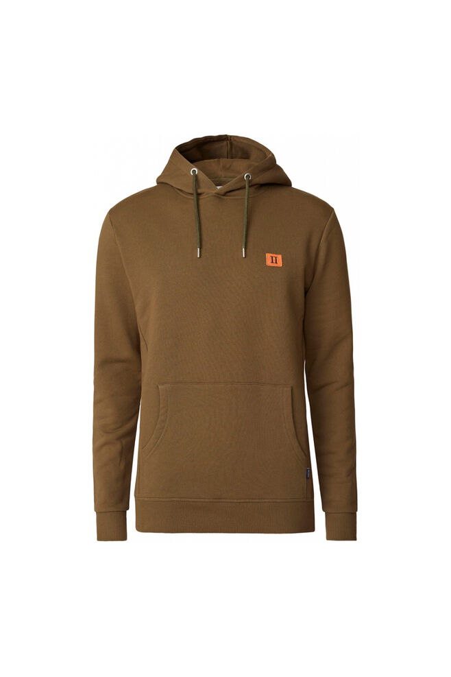 Piece hoodie LDM201017, DARK OLIVE GREEN/BURNT ORANGE