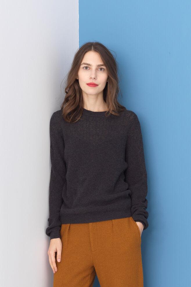 Floral Eyelet Sweater 2792