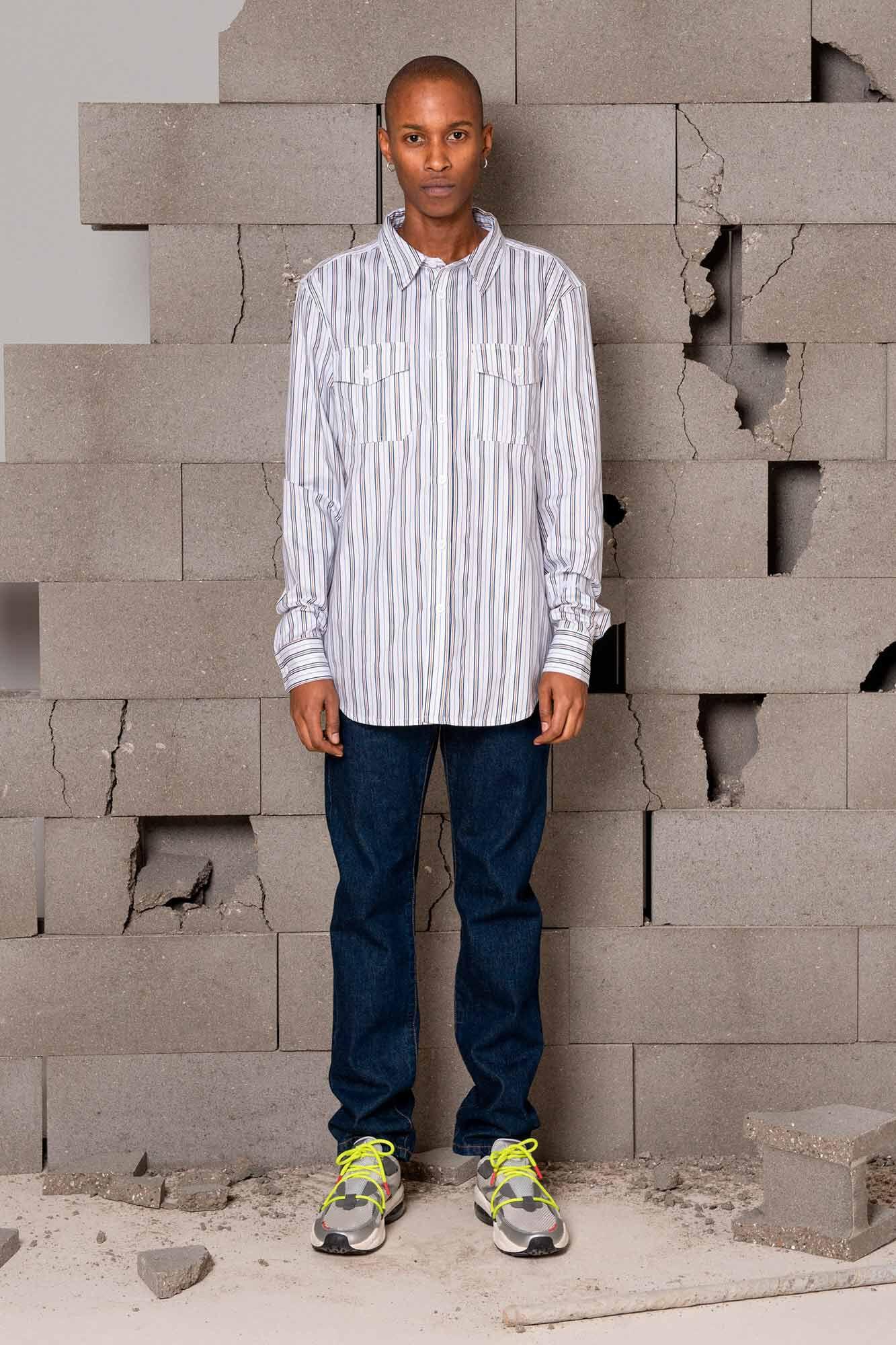 Garden shirt M-120011, TRIPLE STRIPE