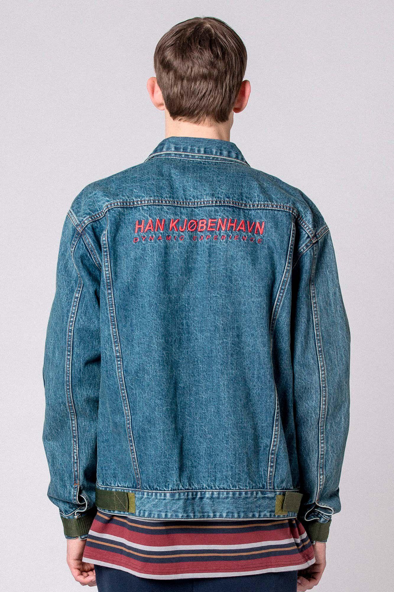 Velcro Denim Jacket M-110089, WORN OUT