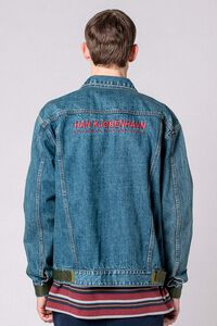Velcro Denim Jacket M-110089, WORN OUT