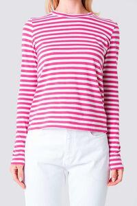 Long Sleeve Stripe 1100-000864, PINK/WHITE