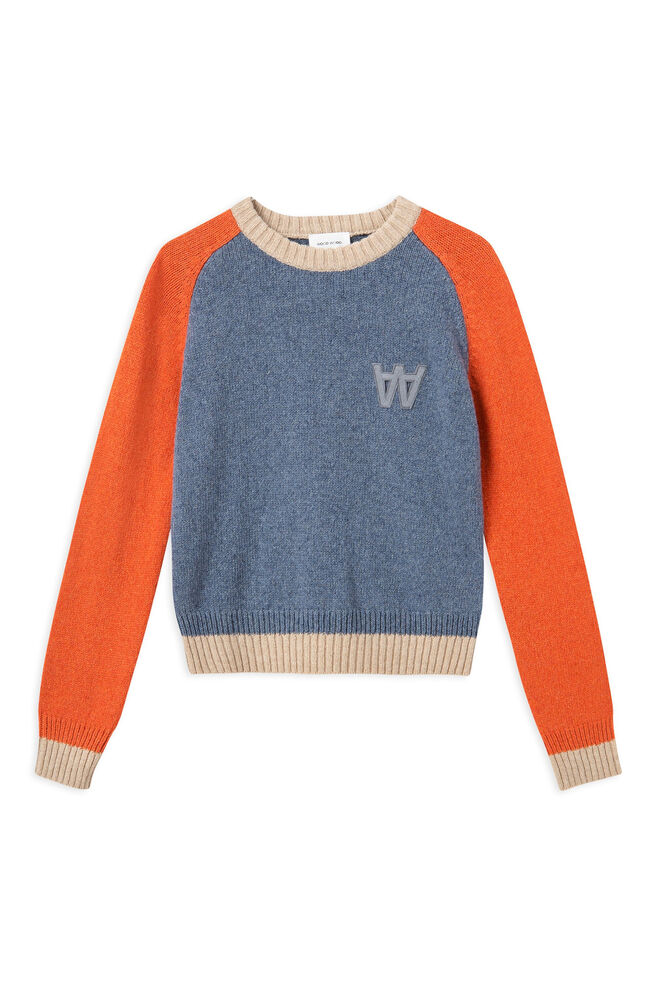 Asta sweater 11911001-4115, DUSTY BLUE COLORBLOCK