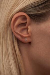 Anchor Ear Stud LULUE101, SILVER