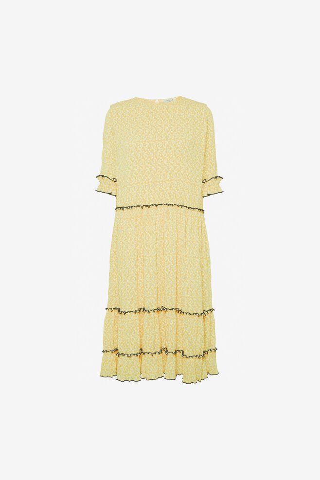 Mette s/s dress 11861435, LIGHT YELLOW PRINT