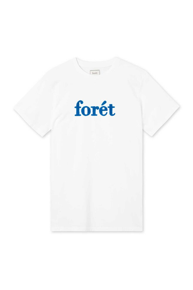 Log T-shirt 403, WHITE/BLUE