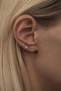 Family Ear Studs LULUE066, SILVER MATTE