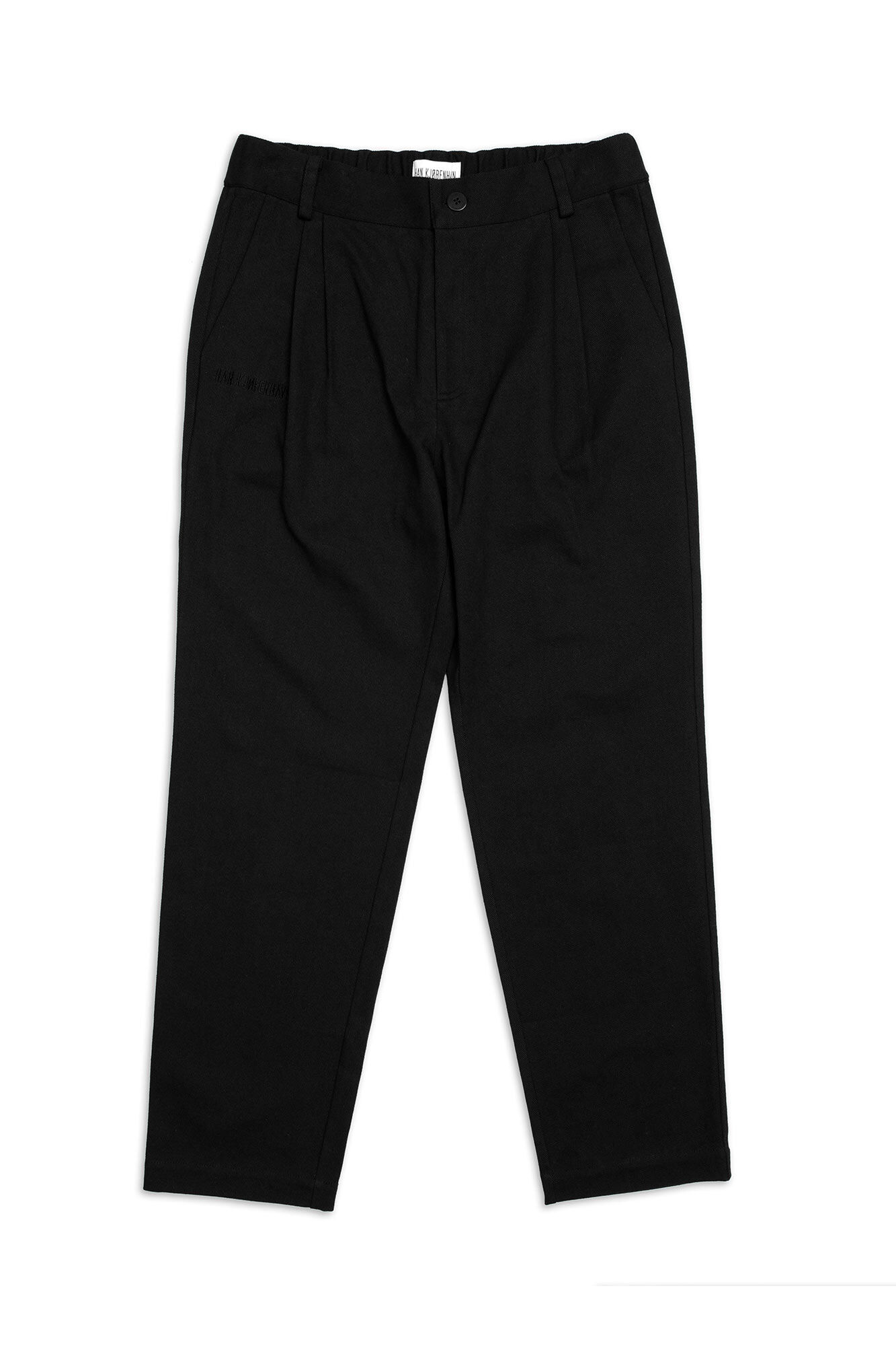 Tapered trousers M-120024, BLACK TWILL
