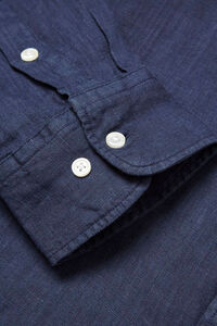 Fabric dyed linen shirt 90550, TOTAL ECLIPSE