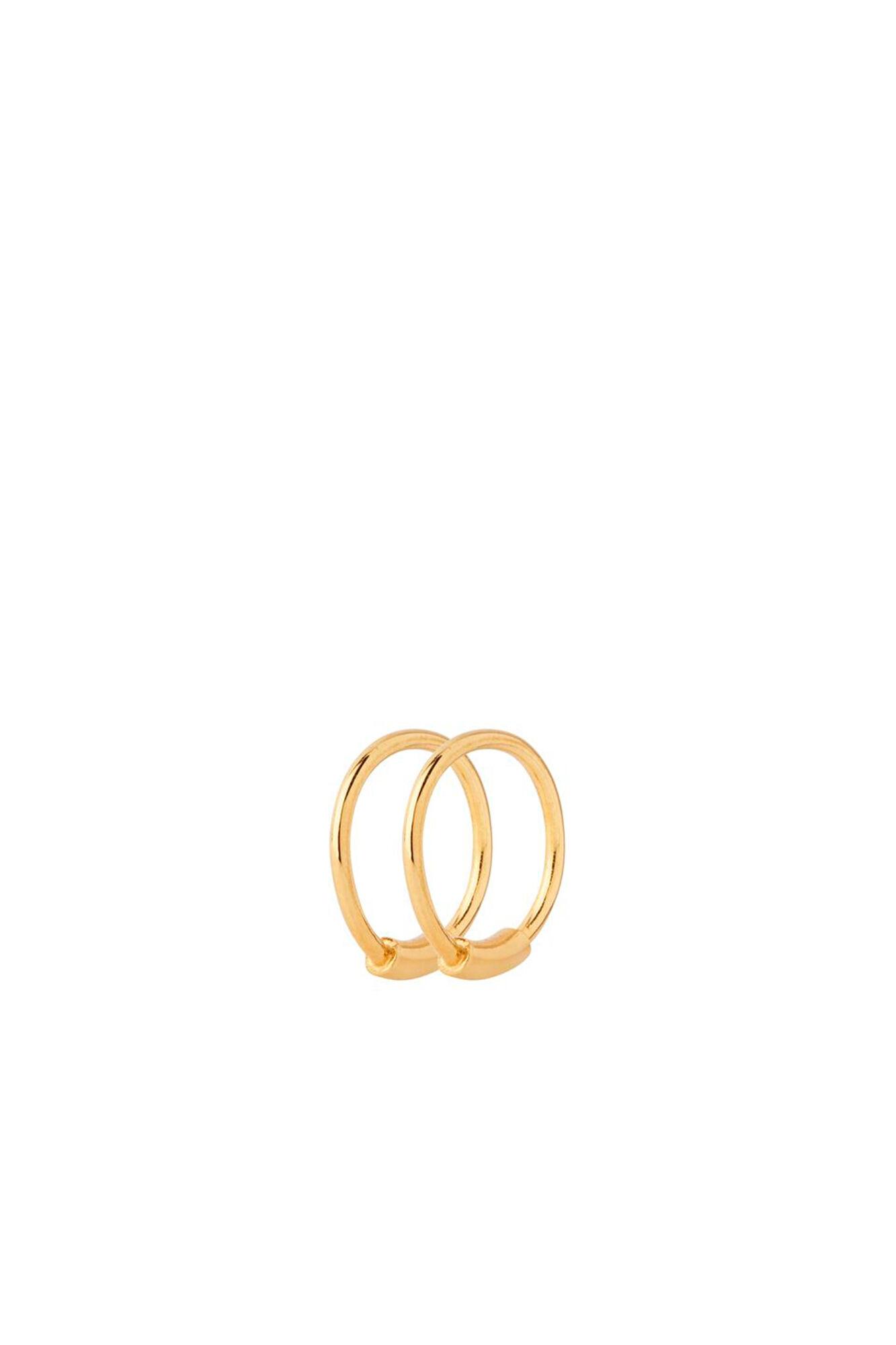 Basic Hoop XS Earring 100212, GOLD HP