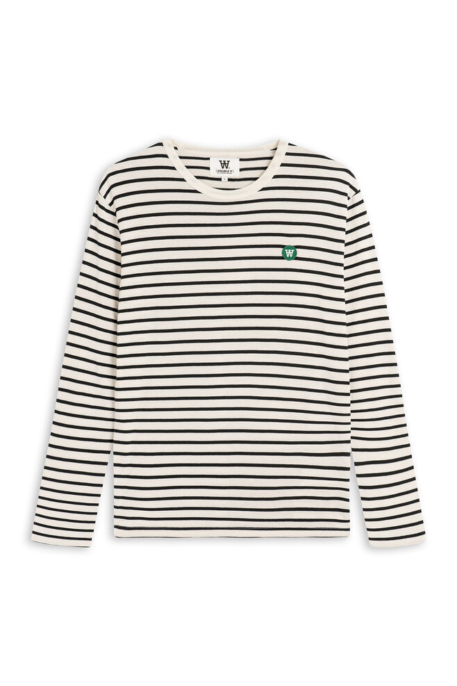 Mel long sleeve, OFF-WHITE/NAVY STRIPE