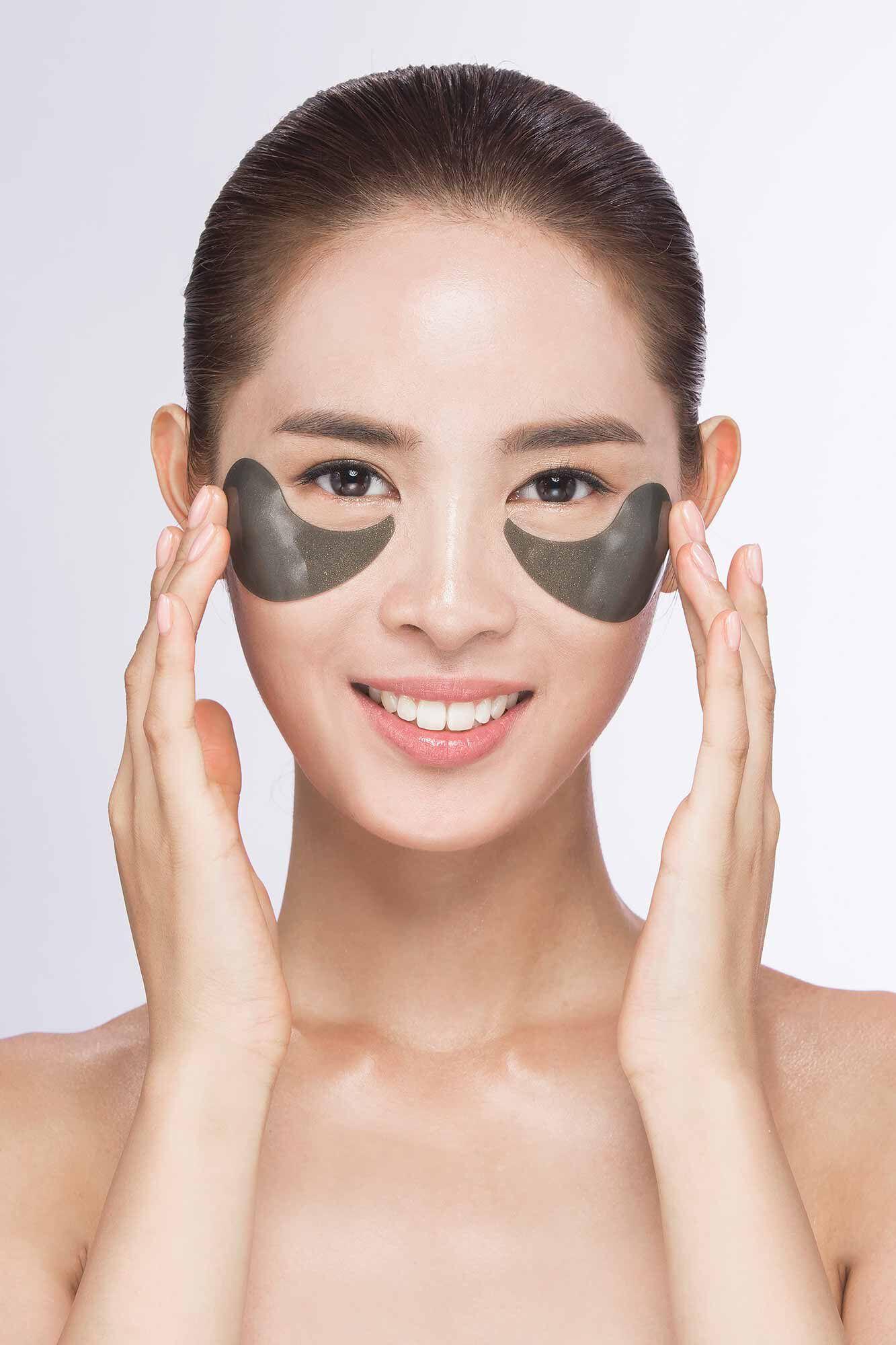 Hydrogel eye mask 78000, GOLD BLACK PEARL