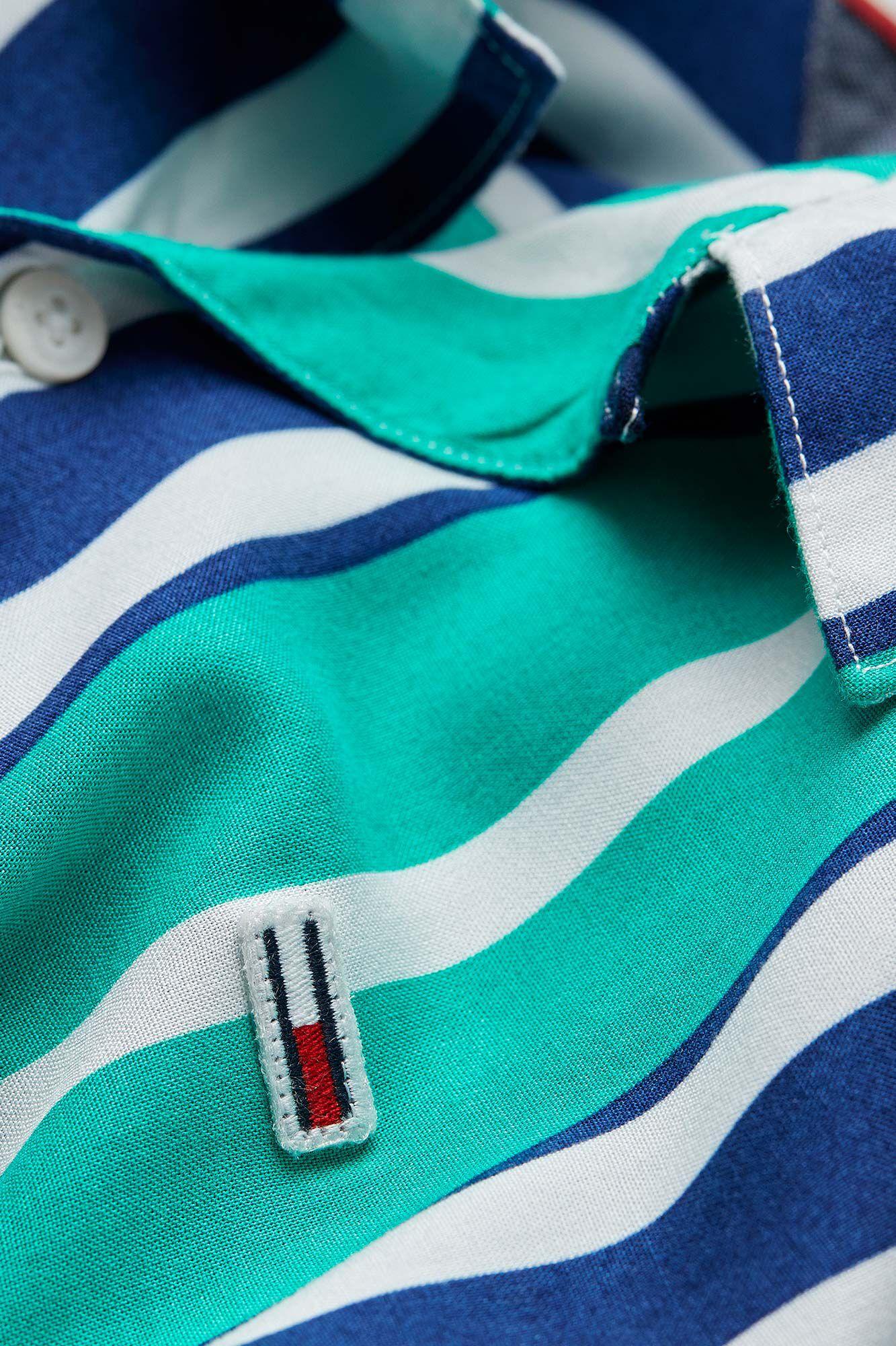 Stripe camp shirt DM0DM06009, DYNASTY GREEN/MULTI