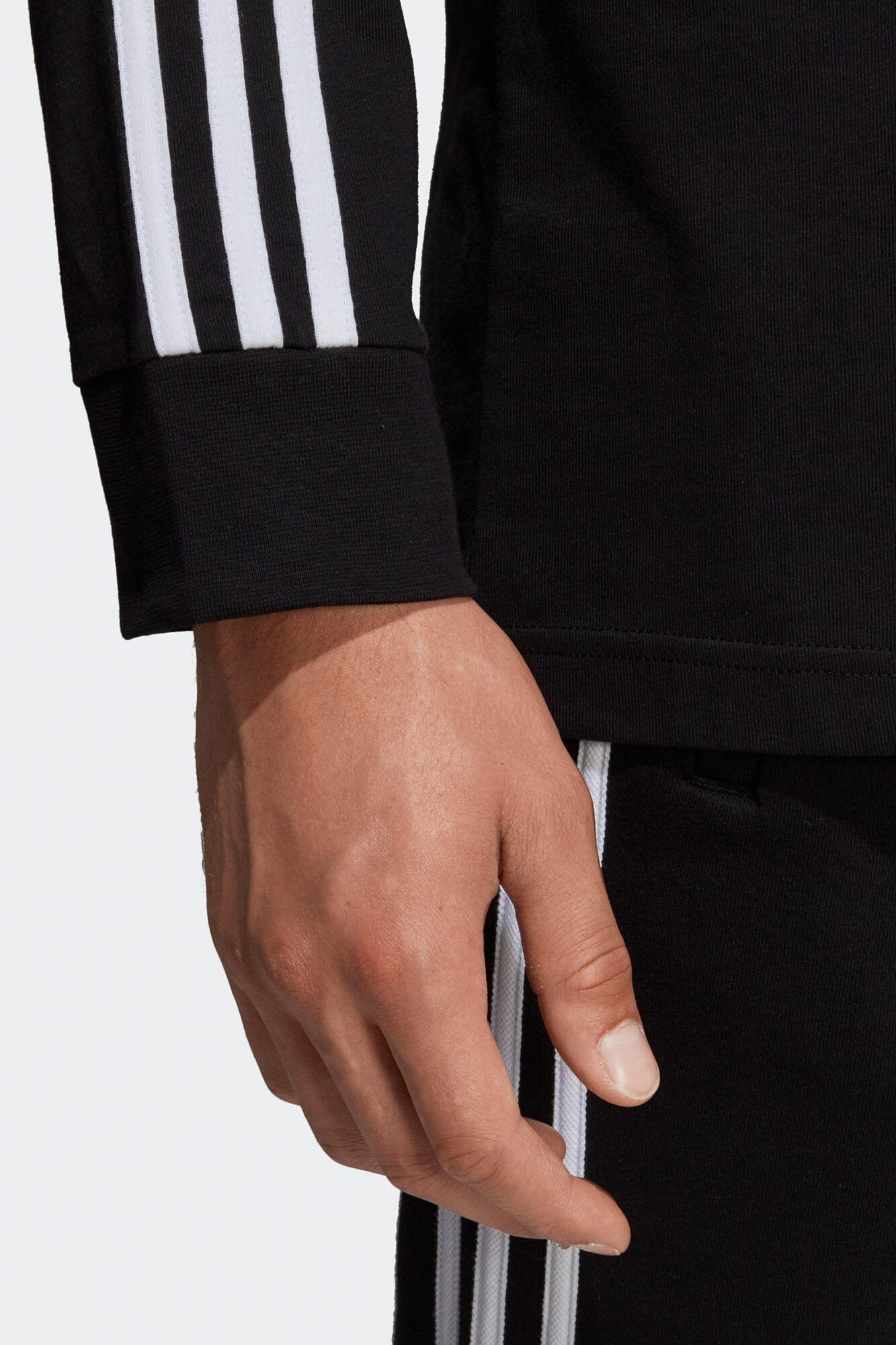 3-stripes Ls Tee DV1560, BLACK