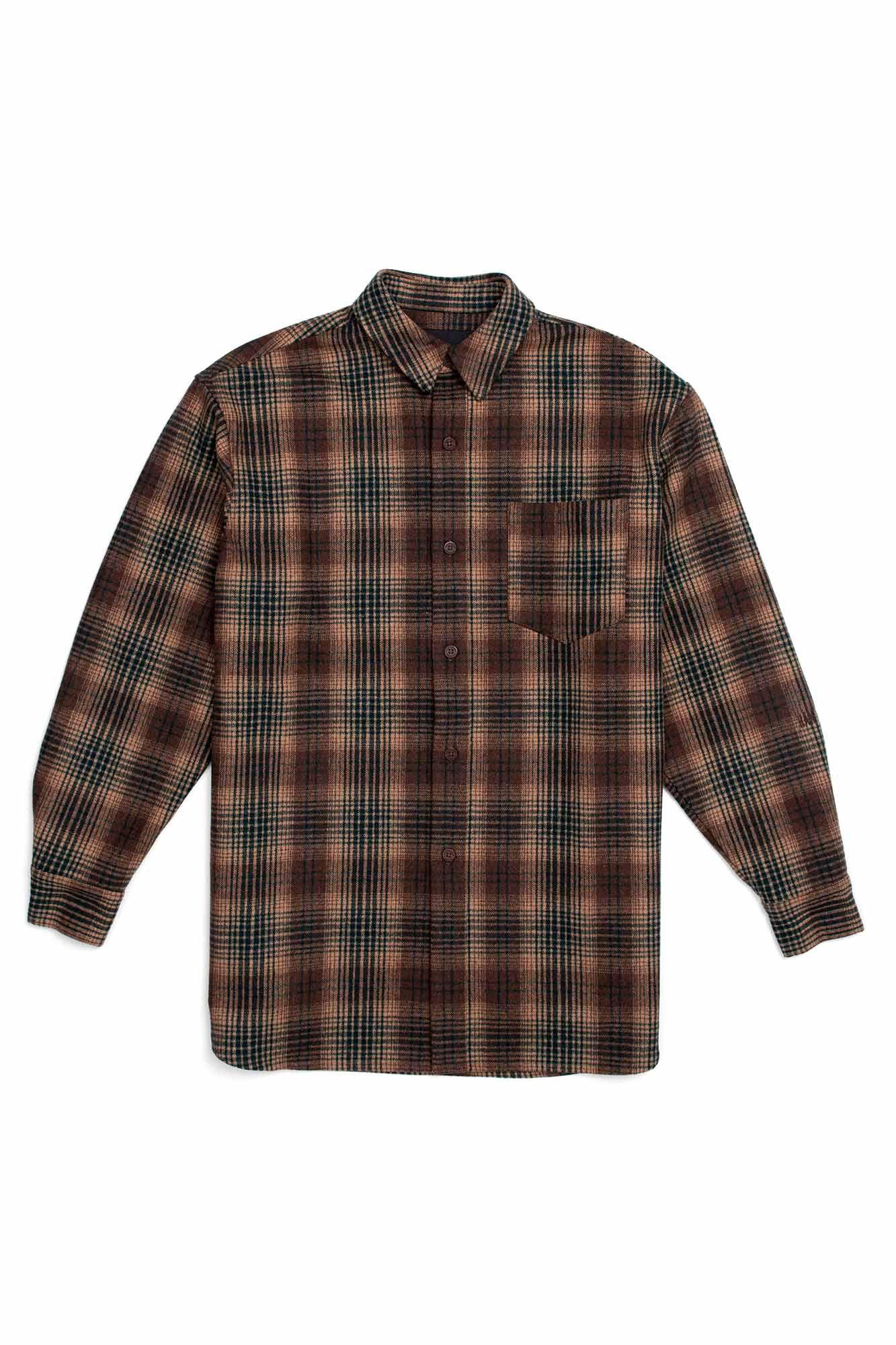 Boyfriend shirt F-120003, TAN TARTAN