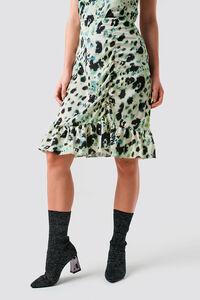Ruffle frill skirt 1100-001551, GREEN