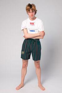 Track Shorts M-110078, GREEN STRIPE