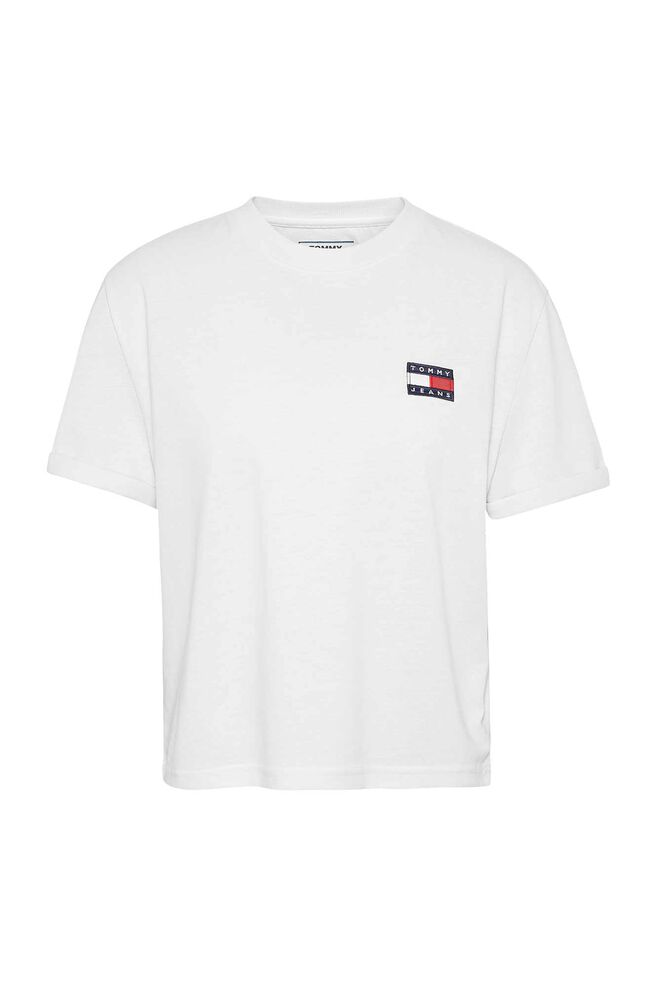 Tommy badge tee DW0DW06813, CLASSIC WHITE