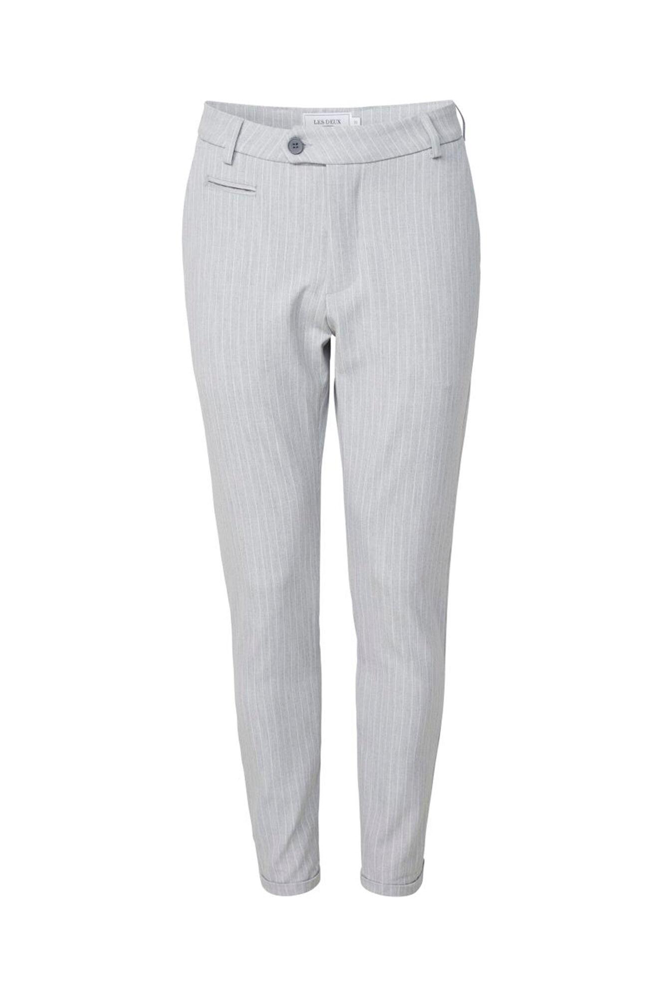 Como Pinstripe Suit LDM501002, GREY MEL./WHITE