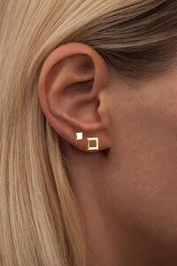 Family Ear Studs LULUE142, GOLD PLATED SHINY