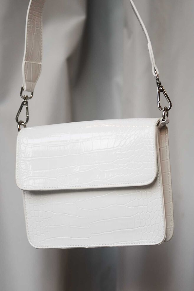 Cayman shiny strap bag H1021, WHITE