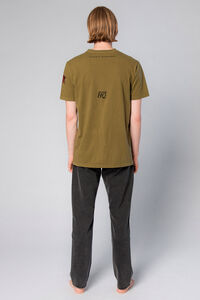 Casual Tee M-110031, OLIVE